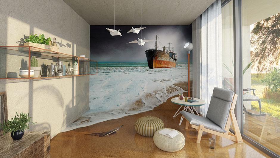 Interior design perete si pardoseala