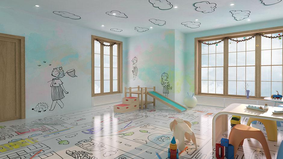 Interior design tavan perete si pardoseala