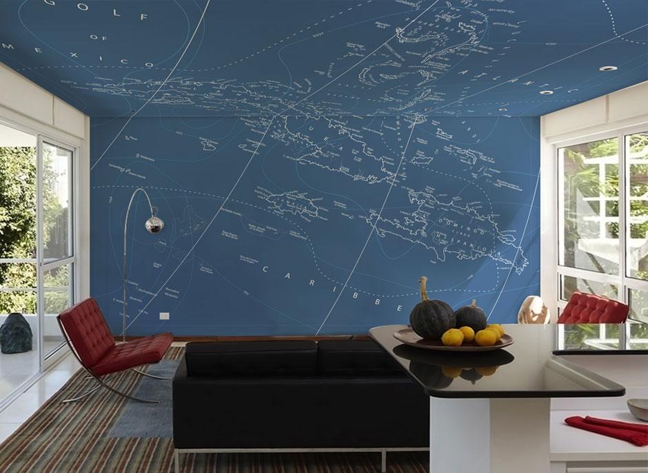 Interior design tavan si perete